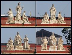 Cluster of statues atop Writers' Building, Kolkata (Calcutta) (Rangan Datta) Tags: kolkata calcutta heritagebuildings writersbuilding bbdbagh laldighi