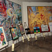 Jordan Winery's 4 on 4 LA Art Competition entries at Hadid Gallery