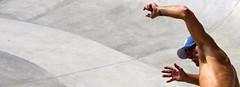 gargoyle (windysmiles) Tags: california blue light summer sun man hot colors statue speed fun grey la concentration losangeles hands estate arms barechested cigarette fingers tan mani gargoyle uomo dash skatepark enjoy rush skate highsaturation skateboard venicebeach sole colori statua fresco barechest dita alfresco velocit suntanned baseballcap sigaretta leggerezza caldo braccia impetus leggier abbronzato slancio torsoundo