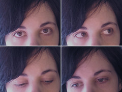 Bohemea Quadriptych/Broken (bohemea) Tags: macro broken self eyes diary 2012 quadriptych bochallenge