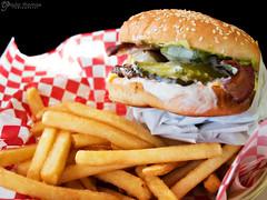 California Burger (gapey) Tags: food restaurant burgers lacey epm1 penready pen929 hanscharbroiledburgers
