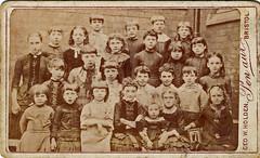Group of school children (class 7). Bristol. 1880s. (benicektoo) Tags: bristol children victorian vintagephotographs foundphotographs