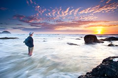 Self Portrait/Shot Shellys Beach, Port Macquarie - NSW (James.McGregor) Tags: ocean sunset portrait seascape beach self sunrise canon landscape paradise sydney free australia oasis filter nsw tropical newsouthwales hitech byronbay portmacquarie coffsharbour goldcoast lowepro 1740l gnd snapback 5dmk2