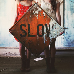 Slow (Danielle Pearce) Tags: girls house abandoned sign canon vintage slow boots mark ii 5d combat