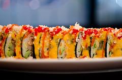 Volcano Roll (seango) Tags: food toronto ontario canada rain dinner sushi asian cuisine japanese volcano restaurant maki egg salmon korean roll tempura mississauga afterrain spicytunacrabavocadocucumbersweet mayochilifish