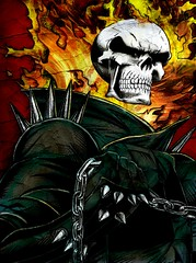 Ghost Rider: Colored (noelevz) Tags: comics colored marvel ghostrider