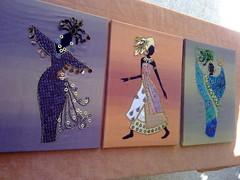wall decor applique art (art art art and me) Tags: 3 art wall set three sewing sew textile baghdad decor applique         dhuha