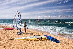 Men Who Ride the Wind & Sea (mojo2u) Tags: ocean beach hawaii maui windsurfing hookipa nikond700 nikon28300mm