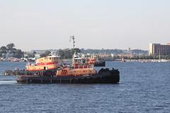 Tugboats Freedom, Harold A Reinauer II and Jason Reinauer at Boston Harbor (SAM601601) Tags: usa boston freedom massachusetts tugboat tb jasonreinauer sam601601 haroldareinauerii