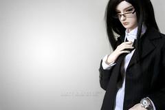 It's getting hot in here (Liara Kon) Tags: portrait kyle studio photography doll suit reese bjd abjd seme liara dollmore