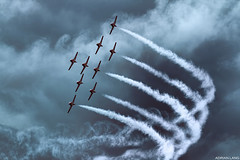 The Snowbirds! (~Clubber~) Tags: sky smoke formation airshow event snowbirds rcaf aviationcanadaairplaneflyingflight