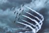 The Snowbirds! (~Clubber~) Tags: sky smoke formation airshow event snowbirds rcaf aviationcanadaairplaneflyingflight