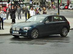 BMW 118d (kenjonbro) Tags: uk blue england westminster diesel trafalgarsquare bmw charingcross 2012 sw1 118 118d kenjonbro fujifilmfinepixhs10 fujihs10 lg12xgj
