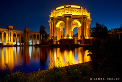 Blue Hour at the Palace of Fine Arts (James Neeley) Tags: sanfran