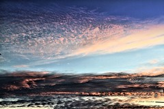Clouds and colours (Ahsan. (off until mid Sept)) Tags: life pink blue light sunset sky orange cloud nature clouds skyscape photography evening focus colours effect canonef24105mm canon7d