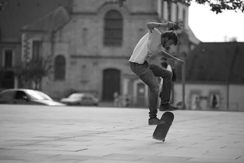 Skate boarding in Vannes #3 by Alexandre Dulaunoy, on Flickr