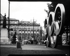 (mechanical_vandal) Tags: street city film darkroom scotland glasgow positive analogue olympic largeformat direct 5x4 directpositive