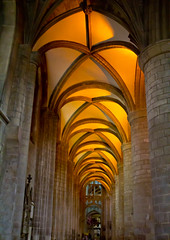 Ceiling glow (Chivers999) Tags: light canon lights cathedral columns arches ceiling illuminated gloucester tamron gloucestercathedral recesses 60d canon60d