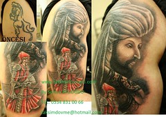 Cover up arabic warrior with portrait tattoo /portre dvme arabic sava (taksim beyolu dvmeci) Tags: woman art tattoo artist femme models drawings istanbul tattoos taksim examples vrouwen tatouage bayan mannen kiz modle modelleri dovme izimler dovmeciler taksimdovme dovmemodelleri dovmesi
