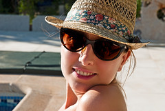 elena (*SO-CALLED BLYTHE* by so-called anna) Tags: summer portrait girl sunglasses swimmingpool nikond200