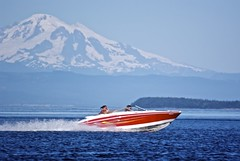 Power of Mt Baker (Alejandro Erickson) Tags: ocean mountain boat power fast juandefuca mtbaker