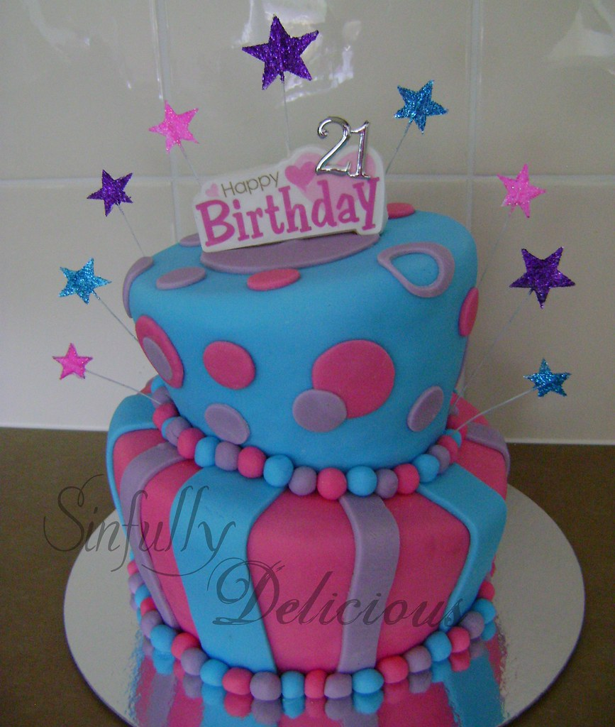 Topsy Turvy 2 Sinfully Delicious1 Tags Pink Blue Cake Purple Bright Topsyturvy