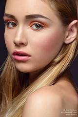 Sophie (Mary Vostokova) Tags: colors girl beauty fashion closeup studio gold model glamour eyes shine skin sweet mary makeup lips honey blonde glam lovely hairs christabel taivas hardlight vostokova