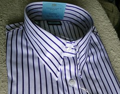 ladies shirt, Hawes and Curtis (rabinal) Tags: ladies white shirt purple stripe august collar narrow curtis 2012 hawes