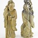 195. Pair of Carved Stone Chinese Figures