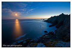 Moon at Pointe du Raz - Brittany - France (Ronan Follic) Tags: