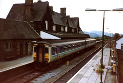 Machynlleth, 29th June 1992 (elkemasa) Tags: 1992 sprinter machynlleth dmu class156
