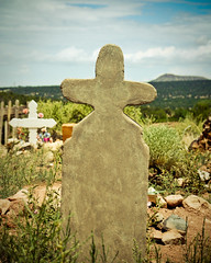 New Mexico Cross (squint photo) Tags: newmexico santafe church cemetery graveyard photography cross headstone ghosttown ghosts wildwest fineartphotography religiousart oldwest cemeteryphoto religiousphoto nikond80 sonjaquintero squintphotography