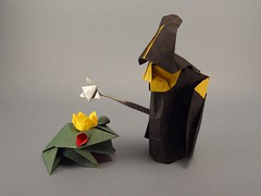 Witch and Little Frog (SweeP_64) Tags: origami little roman witch frog akira