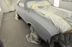"1970 Cutlass SX Coupe Restoration in primer • <a style=""font-size:0.8em;"" href=""http://www.flickr.com/photos/85572005@N00/8151098575/"" target=""_blank"">View on Flickr</a>"