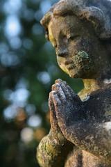 The Stone Angel (peterkelly) Tags: ontario canada london grave graveyard stone angel digital dead death headstone praying tombstone marker northamerica lichen mtpleasant mountpleasantcemeterycrematorium