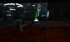 facing the holo Buddha (lawrence celestalis) Tags: fiction black architecture grid design robot war punk experimental technology postmodern tech bladerunner pirates alien artificial sl robots intelligence galaxy secondlife pirate pixel future autocad scifi techno warrior guns sciencefiction bloody cyborg wreck universe armour rp ai android futuristic weapons droid cyberpunk deepspace williamgibson warpaint assassin bigguns avantgarde artificialintelligence roleplay dystopia dystopian blackops mercenary pkdick technologic ziggystardust aladdinsane cybercity technopunk technocity futurecity cyberpirate hangarsliquides djehankidd lawrencecelestalis crimsonmerchants technopirate darktech technopunkorg wristguns