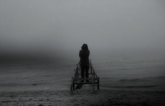 Memoryhouse (Filterpark) Tags: leica bw black beach fog de la blackwhite leicadigilux2 fineart foggy balticsea baltic soul conceptual filterpark