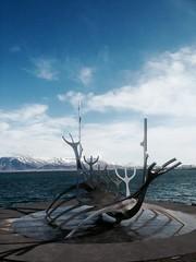 image (marlenebocast) Tags: sun clouds boat iceland cloudy reykjavik solstice viking partly
