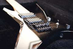 Jackson Warrior WRMG Transparent Black (johanbackstrom) Tags: music metal closeup reflections bokeh guitar jackson warrior electricguitar emg emg81 emg85 floydrose guitarporn jacksonwarrior