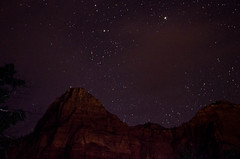 Stars Above Zion (wrgenec) Tags: park travel camping sky night stars outdoors evening utah lowlight desert hiking national zion