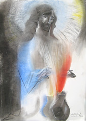 Jesus, Lord of Miracles. 2016 by Stephen B. Whatley (Stephen B. Whatley) Tags: wedding london art love water thanks religious hope catholic peace transformation wine drawing contemporaryart modernart pastel prayer jesus icon christian holy charcoal bbc expressionism 1998 cana miracles toweroflondon ascension charcoaldrawing queenelizabeth jesuschrist westminstercathedral religiousart timemagazine 2016 queenelizabethii 30april whatley towerhillstation weddingatcana ascensionofourlord lordjesus stephenbwhatley theroyalcollection towerhillunderpass bbcheritage expressionistdrawing artiststephenbwhatley stephenwhatley toweroflondonpaintings paintingsfromprayer jesuslordofmiracles charcoalpasteldrawing