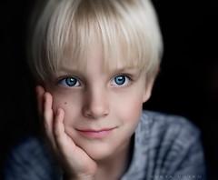 Blue eyes (sveta_butko) Tags: boy portrait smile face childhood hair eyes child