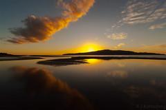 End of a perfect day... (bob_katt) Tags: sunset sea newzealand sky cloud sun colour beach weather silhouette canon reflections island coast sand natural outdoor northisland aotearoa channel wonders kapiti paraparaumu eos500d rangituhi