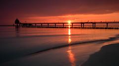 Baltic Sea Sun Rise (macrobernd) Tags: dars zingst sonnenaufgang seebrcke tauchglocke meer ostsee balticsea ocean brandung