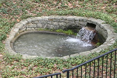 Pit Pool (eyriel) Tags: nature water pool stone fence garden flow pond longwoodgardens