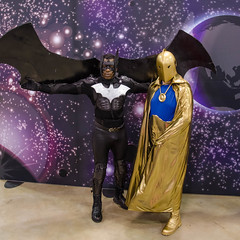 Batwing & Dr. Fate (misterperturbed) Tags: newjersey atlanticcity jsa doctorfate drfate batwing justicesocietyofamerica atlanticcityboardwalkcon
