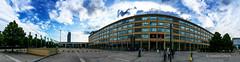 Lingotto, Torino (alessiochiolo) Tags: auto life street old city blue light sunset sky italy panorama cloud house storm industry glass colors lines architecture backlight clouds buildings shopping walking square torino spring insane italian italia nuvole day cityscape exterior place expo fiat wind cloudy good geometry space air centro wide arc 8 automotive center commerciale icon panoramic structure explore exposition cielo infrastructure turin architettura luce aria citt fca cityview spazio icona lingotto costruzioni giorno aperto pomeriggio fiere lovelycity