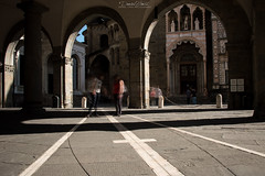 Moving Bergamo (danieltimisphotography) Tags: street city longexposure travel people urban italy art look photography see movement nikon italia streetphotography move persone movimento bergamo citt discover concentrate mossa osservare longexpo cittalta longexpophotos