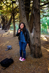Nyade en el bosque (Jordan Atenas) Tags: chile portrait woman lake tree girl forest landscape lago valparaiso mujer woods young shy bosque rbol joven peuelas tmida