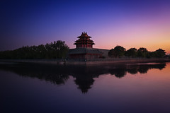 Forbidden City & Sunset (Lus Henrique Boucault) Tags: asia beijing china cityview cityscape clear forbiddencity historic longexposure oriental sunrise sunset travel traveling pequim beijingshi cn